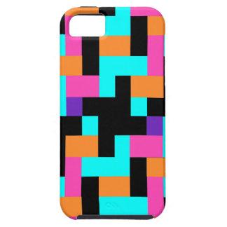 Colorful Geometric Tetris Squares - Modern Pattern iPhone SE/5/5s Case