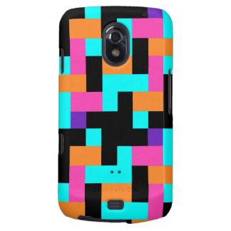 Colorful Geometric Tetris Squares - Modern Pattern Samsung Galaxy Nexus Case