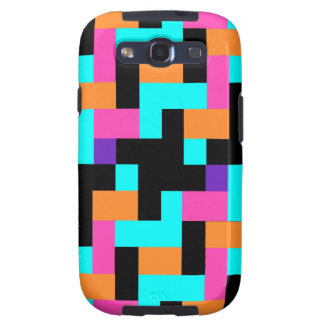 Colorful Geometric Tetris Squares - Modern Pattern Samsung Galaxy S3 Case