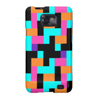 Colorful Geometric Tetris Squares - Modern Pattern Samsung Galaxy SII Cover
