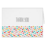 Colorful Geometric Triangle Hearts Wedding Card