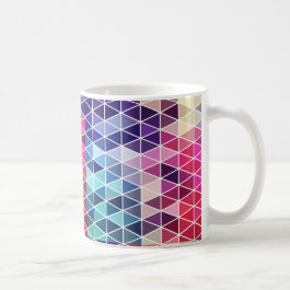 Colorful Geometric Triangle Prism Coffee Mug