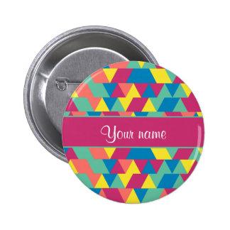 Colorful Geometric Triangles Button