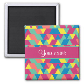 Colorful Geometric Triangles Magnet