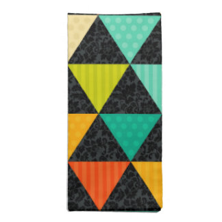 Colorful Geometric Triangles Seamless Pattern Napkin