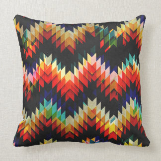 Colorful Geometric Weave Pillows