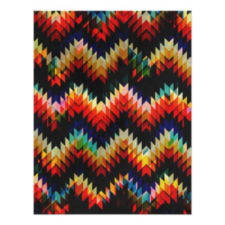 Colorful Geometric Weave Poster