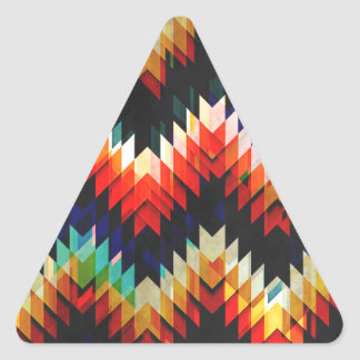 Colorful Geometric Weave Triangle Sticker