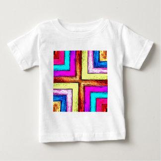 Colorful Geometric Wood Panels Baby T-Shirt