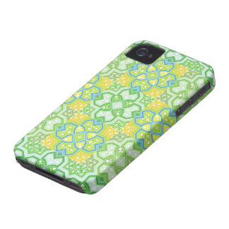 Colorful Geometric ~ Yellow & Green Case-Mate iPhone 4 Case