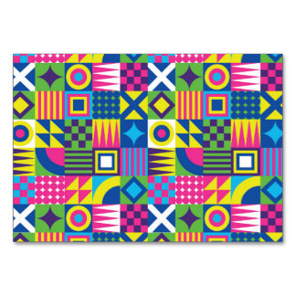 Colorful Geometrical Elements Pattern Card
