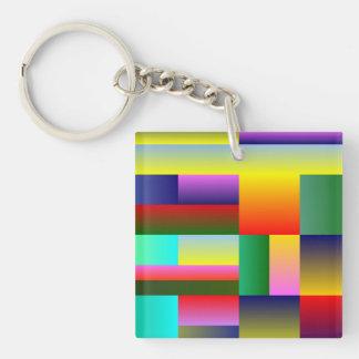 Colorful Geometrical Symmetry Acrylic Keychain