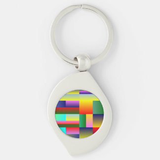 Colorful Geometrical Symmetry Key Chain