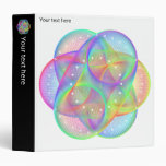 Colorful geometry pattern - 3 ring binder