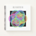 Colorful geometry pattern notebook
