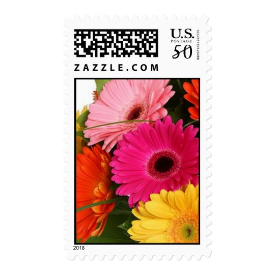 Colorful Gerber Daisies Postage