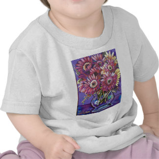 COLORFUL GERBER DAISIES T-SHIRTS