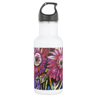 COLORFUL GERBER DAISIES WATER BOTTLE