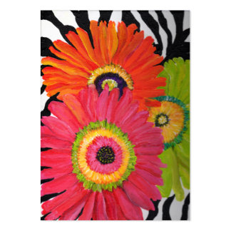 Colorful Gerbera Daisy Business Cards