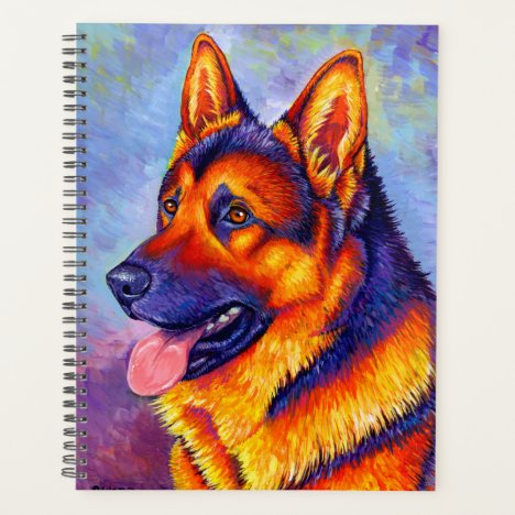 Colorful German Shepherd Dog Planner