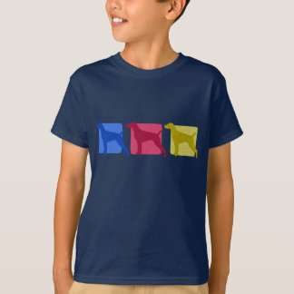 Colorful German Shorthaired Pointer Silhouettes T-Shirt