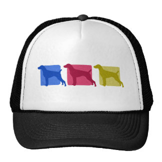 Colorful German Shorthaired Pointer Silhouettes Trucker Hat