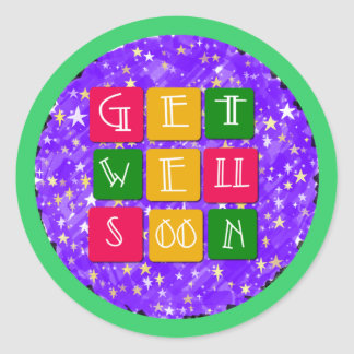 Colorful Get Well Soon Stickers