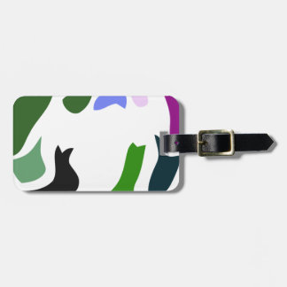colorful ghost bag tag