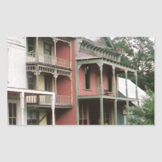 Colorful Ghost Town Buildings Rectangular Sticker