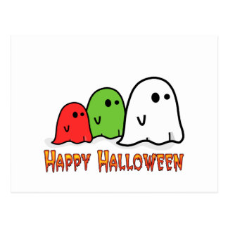 Colorful Ghosts Postcard