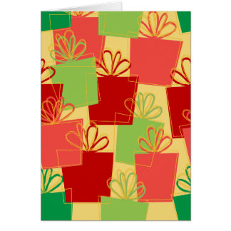 Colorful Gift-Boxes Card