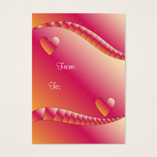 Colorful Gift Tag With Hearts