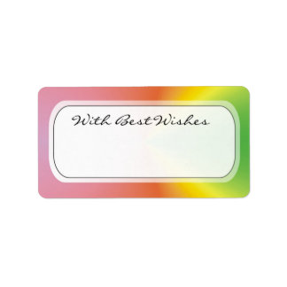Colorful Gift Tags - Best wishes Address Label
