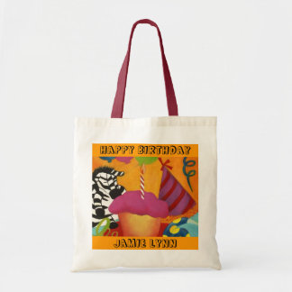 COLORFUL GIFT TOTE BAGS FOR CHILD'S BIRTHDAY