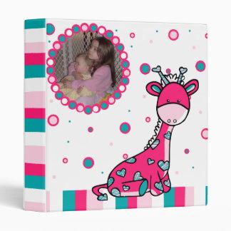 Colorful Giraffe Baby Photo Vinyl Binder