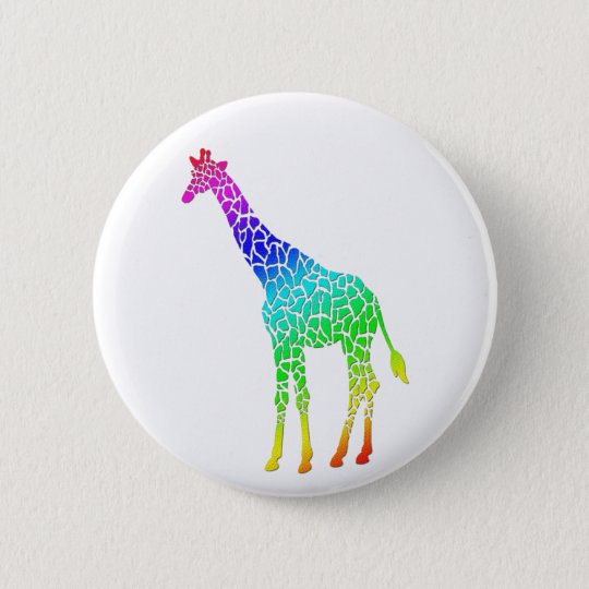 Colorful Giraffe Button