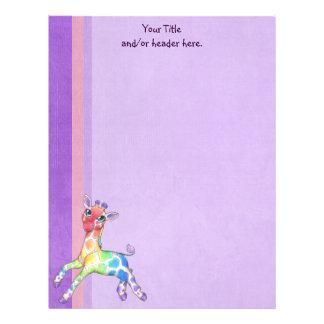 Colorful Giraffe Letterhead