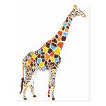 Colorful Giraffe Post Cards