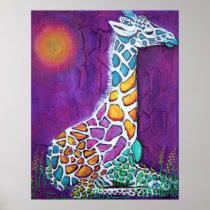 Colorful Giraffe Poster