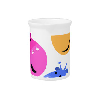 Colorful giraffes Art Beverage Pitcher