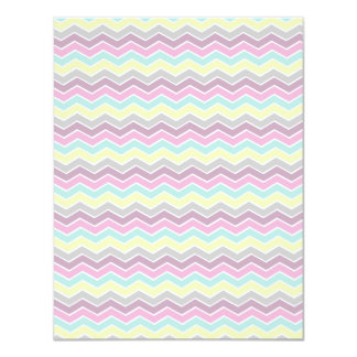 Colorful girly chevron card