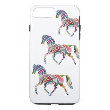 Colorful Girly Fantasy Horse iPhone 8 Plus/7 Plus Case