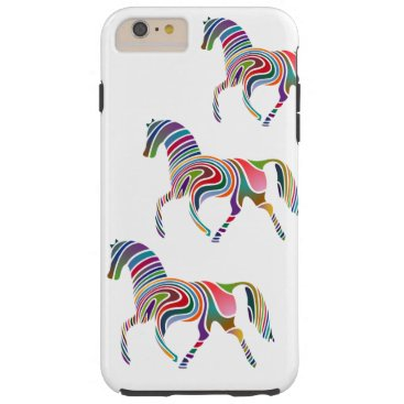 Colorful Girly Fantasy Horse Tough iPhone 6 Plus Case