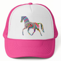Colorful Girly Fantasy Horse Trucker Hat
