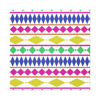 Colorful Girly Geometric Trial Pattern Canvas Print