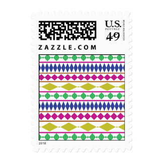 Colorful Girly Geometric Trial Pattern Stamp
