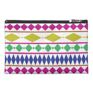Colorful Girly Geometric Trial Pattern Travel Accessory Bag