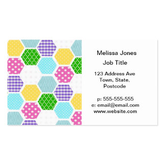 Colorful girly honeycomb pattern Double-Sided standard business cards (Pack of 100)