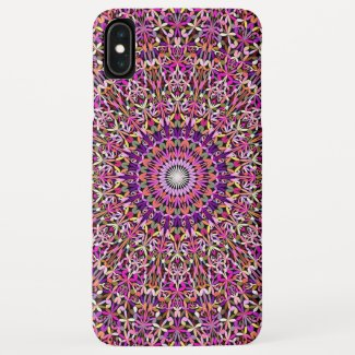 Colorful Girly Lace Garden Mandala Case-Mate iPhone Case