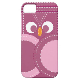 Colorful Girly Purple Stitched Owl iPhone 5 Case
